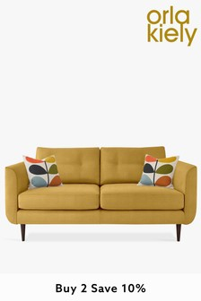 Orla Kiely Linden Medium Sofa With Walnut Feet