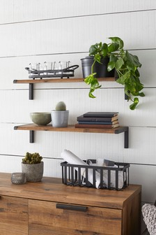 Set Of 2 Bronx Wall Shelf