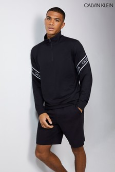 Calvin Klein Black 1/4 Zip Pullover