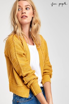 Free People Yellow Moon River Cardigan
