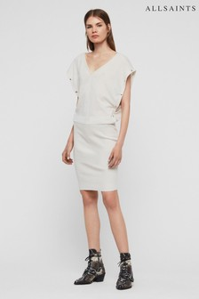 AllSaints Off White Knitted Surie Dress