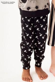 Turtledove London Black Palm Print Legging
