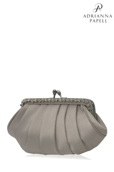 Adrianna Papell Oyster Kennis Embellished Clutch