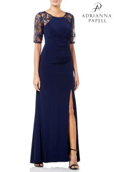 Adrianna Papell Long Jersey Dress