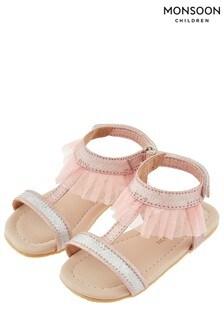 Monsoon Pale Pink Cici Frill Walker Sandal
