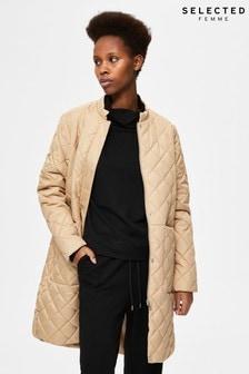 Selected Femme Sustainable Diamond Quilt Lightweight Fillipa Jacket