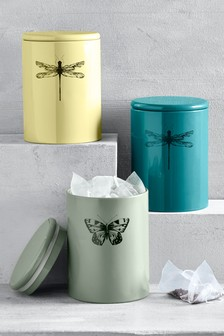 Set of 3 Botanical Storage Tins