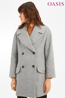 Oasis Grey Jasmine Relaxed Coat