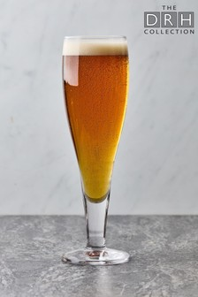 Set of 6 The DRH Collection Stolzle Milano Beer Glasses