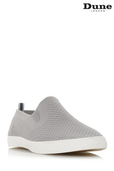 Dune London Grey Flyknit Slip-On Shoe