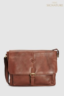 69ab629de4cc2b Signature Leather Messenger