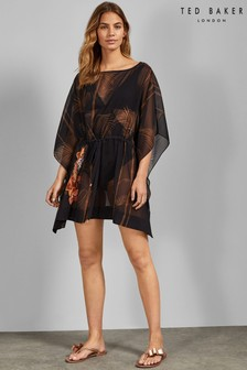 Ted Baker Black Floral Cover Up