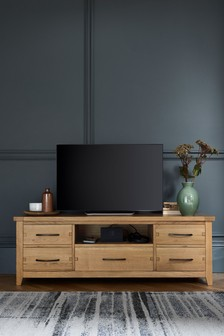 Thornley Oak Wide TV Unit