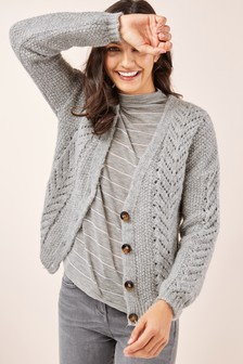 Pointelle-Strickjacke