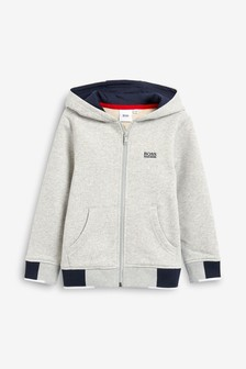 BOSS by Hugo Boss Grey Logo Hoody