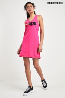 Diesel® Pink Logo Dress