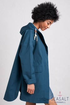 Seasalt Blue Beachcombing Coat
