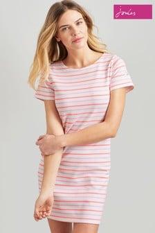 Joules Riviera Kurzärmeliges Jersey-Kleid, pink