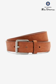 Ben Sherman® Casual Tan Stitched Belt