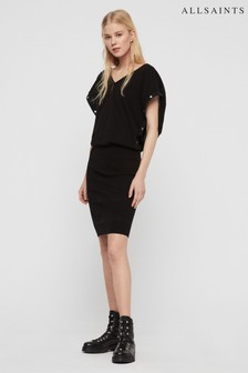 AllSaints Black Knitted Surie Dress