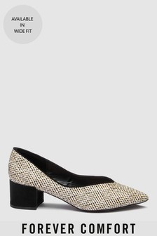 Point Block Heel Shoes