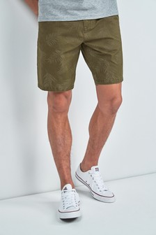 Leaf Print Chino Shorts