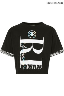 River Island Black Oversize Graphic T-Shirt