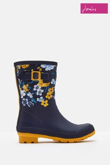 Joules Blue Botanical Molly Printed Welly