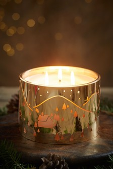 Festive Spice Fragranced 3 Wick Candle