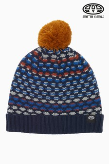 Animal Multihued Fleece Lined Huey Bobble Beanie