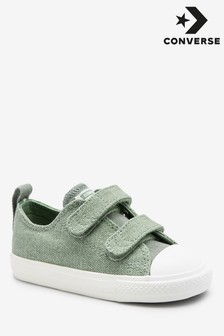 Converse Infant Khaki Wash Velcro Ox Trainer