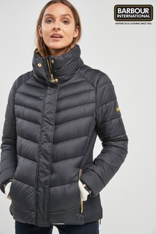 Barbour® International Black Camier Quilt Jacket