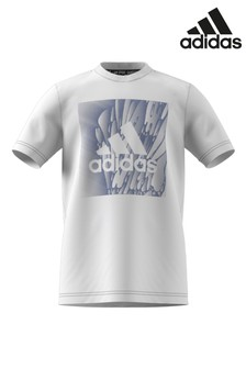 adidas White Graphic Logo T-Shirt