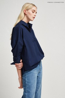 French Connection Dark Blue Oversized Shirt