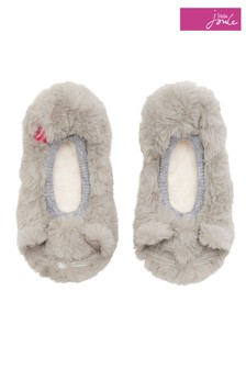 Joules Soft Grey Character Ballet Slipper