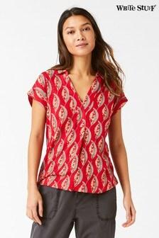 White Stuff Red Spectrum Lyon Jersey Shirt