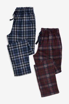 Check Cosy Pyjama Bottoms Two Pack