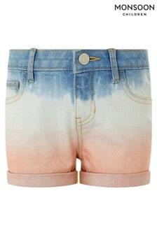 Monsoon Blue Darlene Denim Tie Dye Shorts