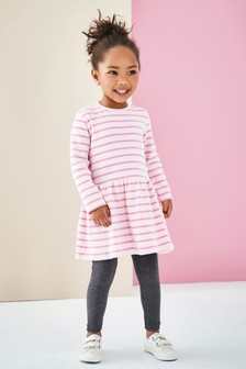Stripe Brushed Dress (3mths-7yrs)