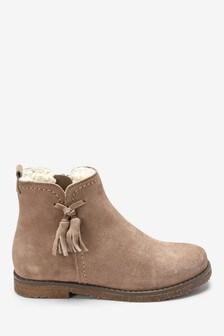 Suede Tassel Ankle Boots (Older)