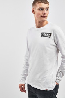 Superdry White Long Sleeve Tee