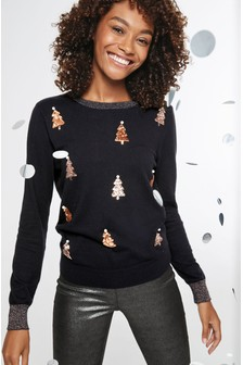 Christmas Sequin Tree Sweater