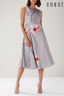 Coast Grey Claude Print Soft Midi Dress