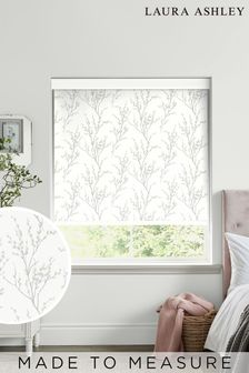 Laura Ashley Grey Pussy Willow Made To Measure Roller Blind