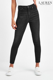 Lauren Ralph Lauren® Black Washed Skinny Crop Jeans