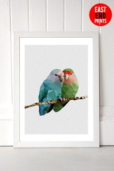 Two Love Birds by Studio Cockatoo Framed Print