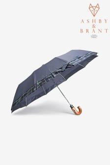 Ashby & Brant Check Trim Umbrella