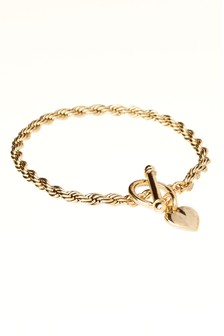Heart Detail Chain Bracelet