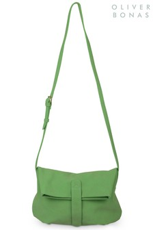 תיק צד ירוק דגם Jenniשל Oliver Bonas