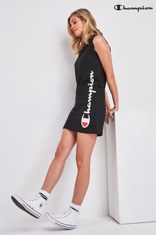 Champion Black Logo High Neck Dress